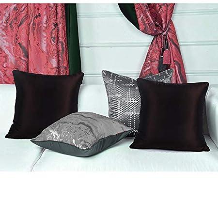 anan520 Solid Faux Silk Home Decorative Throw Pillow Covers Handmade Cushion Covers 18 x 18 Inch 45x45cm