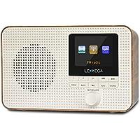 LEMEGA IR1 Portable Internet Radio,FM Digital Radio,WiFi,Bluetooth,Dual Alarms&Clock,Kitchen/Sleep/Snooze Timer,40 Pre…