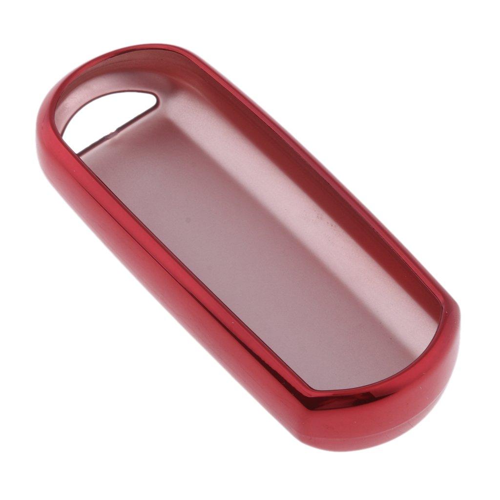 Homyl Soft TPU Flip Paint Metallic Keyless Entry Remote Key Fob Case Protector Cover Key Fob Skin Cover Car Key Bags Key Chains for for Mazda 6CX-7M2 M5 CX-5 - Silver