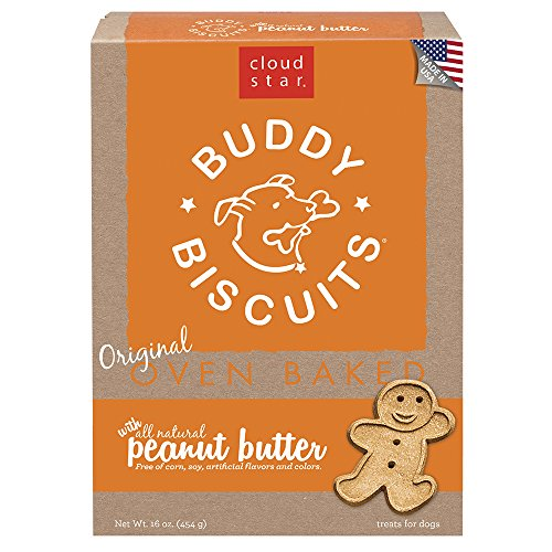 Butter Peanut Madness Buddy (Cloud Star Buddy Biscuits for Dogs, Peanut Butter Madness (16 Ounces), Large)