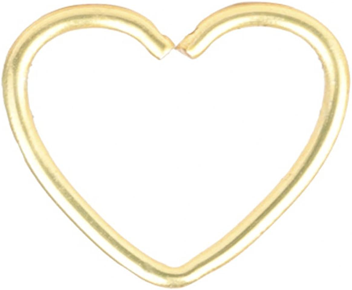Amazon Com Dress Up Yourself 22g Nose Ring Nose Hoop Heart Shaped