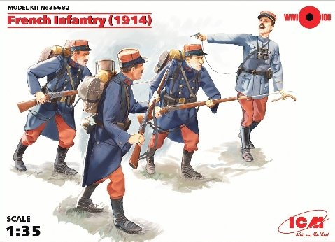 ICM 035682 1/35WWI French Infantry Plastic Model Kit with 4Figures