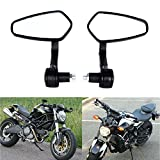 MZS Rear View CNC Bar End Mirrors for Motorcycle Cruiser Dirt Bike Scooter ATV