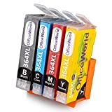4x OfficeWorld 364XL High Yield Compatible Ink Cartridges for HP Photosmart 5510 5511 5512 5514 5515 5520 5522 5524 6510 6520 6512 6515 7510 7520 7515 B8550 B8558 B110c B010a C5370 C5383 C5388 C6324 C6380 D5460 D7560 C310a C410a B209a B210a HP Deskjet 3070A