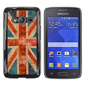 TopCaseStore / la caja del caucho duro de la cubierta de protección de la piel - Britain Rustic Gb London - Samsung Galaxy Ace 4 G313 SM-G313F