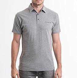 Tesla Motors Men\'s Model X Polo Shirt (Gray, XXL)