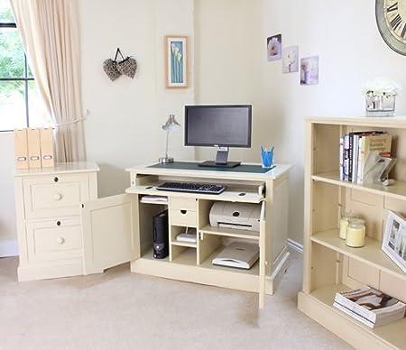 Hidden Home Office Furniture On Baumhaus Cadence Mahogany Hidden Home Office Desk Size 80cm 113cm