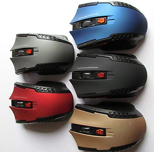 Color : Gold YSYYSH 2.4GHz Wireless Optical Mouse Gamer New Game Wireless Mice with USB Receiver Mause for PC Gaming Laptops USB Mouse