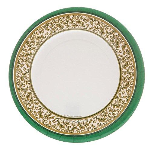 Christmas Green Elegance 8-inch Paper Plates 8 Per (Elegance Green Plate)