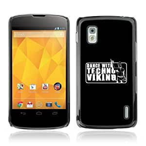 YOYOSHOP [Funny Techno Viking Dance] LG Google Nexus 4 Case