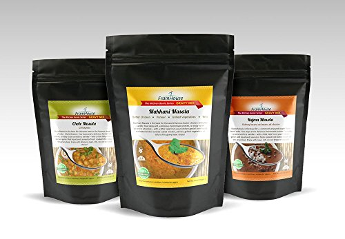 Curry paste for Butter Chicken, Chickpeas, Beans - Framhouse Masalas Variety Pack