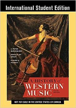 A History of Western Music    Broché – 2 juillet 2019