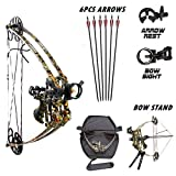 Cheap Smarty 40-50lbs Triangle Compound Bow Magnesium Alloy Camo Archery Hunting Bows Kit