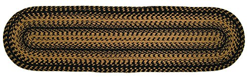 CWI Gifts Braided Ebony Oval Runner, 13 x 48