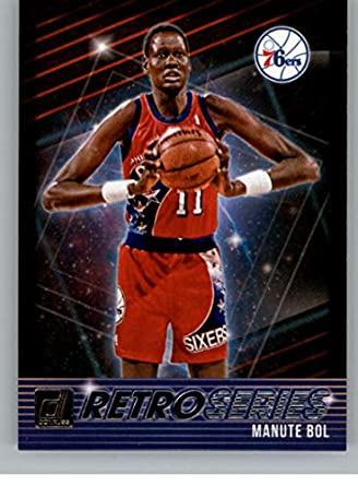 f8796eb62 2018-19 Donruss Retro Series Basketball Card  19 Manute Bol Philadelphia  76ers Official NBA