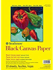 Strathmore 300 Series Black Canvas Pad