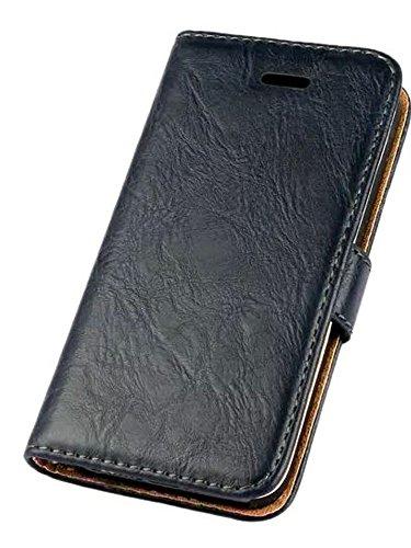 iPhone se hülle, iPhone 5s Holster hülle Bookstyle Handyhülle Premium PU Leder Tasche Flip Case Brieftasche Etui Handy Schutz Hülle für Apple iPhone 5 / 5s / se - Blau