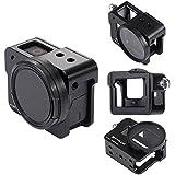 PULUZ for GoPro Hero 7 Black Hero (2018) GoPro Hero 6/5 CNC Aluminum Alloy Housing Shell Case Protective Cage with Insurance Frame & 52mm UV Lens (Black)