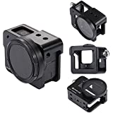 PULUZ for GoPro New Hero (2018) GoPro HERO6/ 5 CNC Aluminum Alloy Housing Shell Case Protective Cage with Insurance Frame & 52mm UV Lens (Black)