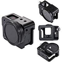 PULUZ GoPro HERO5 CNC Aluminum Alloy Housing Shell Case Protective Cage with Insurance Frame & 52mm UV Lens (Black)