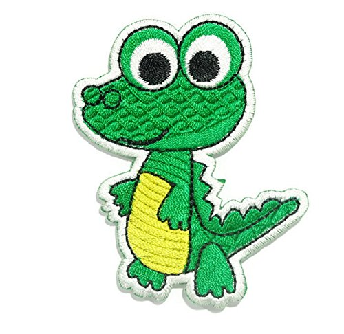 Cartoon Crocodile Iron on Patch Embroidered Sewing for T-shirt, Hat, Jean ,Jacket, Backpacks, - Diego Gucci Store San