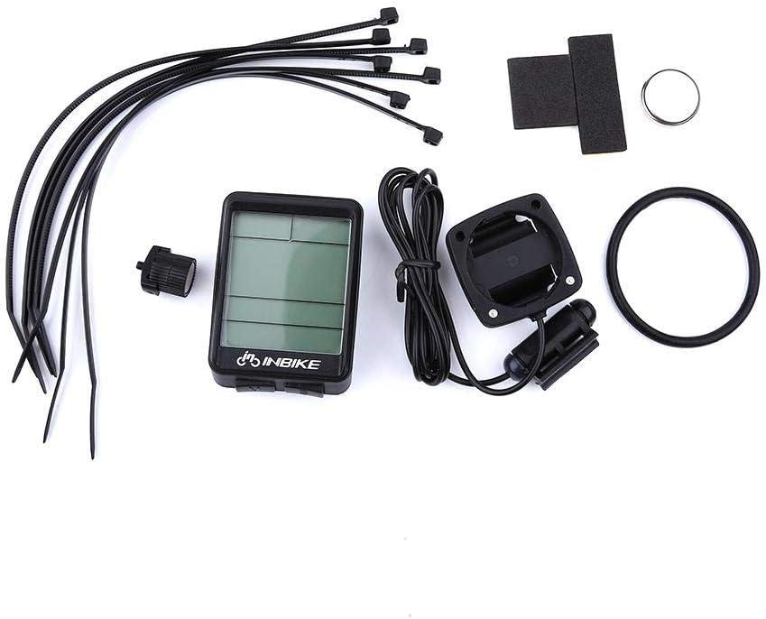 Aufee LCD odometer Universal Motorcycle Kilometric Meter Speed Sensor Lightweight Bike Odometer Mountain Bicycle Speedmeter Portable Waterproof Speedometer Gauge