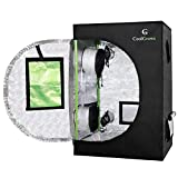 """24""""x24""""x36""""Mylar Hydroponic Grow Tent with Obeservation Window and Floor Tray for Indoor Plant Growing 2'x2' (24""""x24""""x36"""")"""