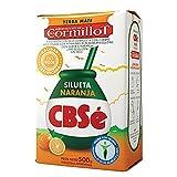 "CBSe Yerba Mate Silueta Naranja ""Dr. Cormillot""/ Mate Leaves Orange Blend 500 gr. (1.1 lbs). Imported from Argentina."