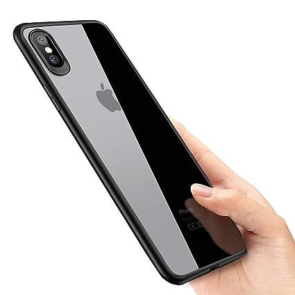 phixilin Funda iPhone XS MAX Silicona Carcasa iPhone XS MAX Ultra Delgado Shock-Absorción y Anti-Arañazos Silicona TPU Bumper Case para iPhone XS MAX ...