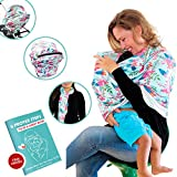 Joint Perfect-Nursing Breastfeeding Cover, Multi Use Nursing Cover, Carseat Canopy, Shopping Cart Cover, Easy To Use Stretchy Material - Designs For Baby Boys and Girls