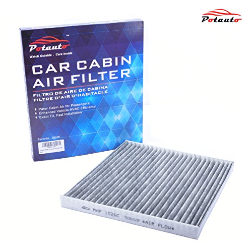 POTAUTO MAP 1026C Heavy Activated Carbon Car Cabin Air Filter Replacement compatible with HYUNDAI, Azera, Sonata, Santa Fe, KIA, Cadenza, Optima, Sedona