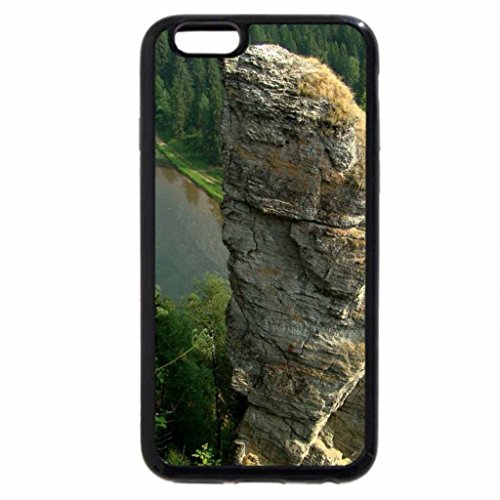iPhone 6S / iPhone 6 Case (Black) mighty rock pillar by a river