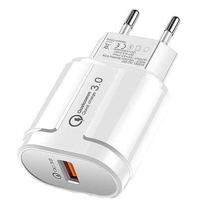ALRY Cargador USB Rápido 18W [Carga Rápida 3.0] Adaptador De ...