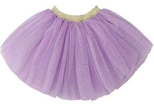 WGOODTECK Newborn Infant Baby Girls Super Soft Glitter Sparkle Tulle Tutu Skirt(2-6Y,Lavender)