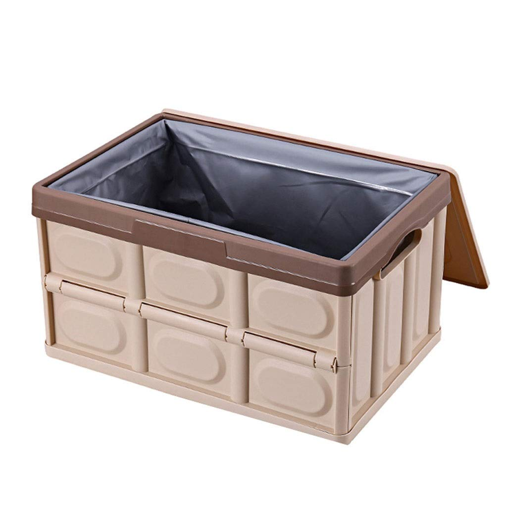Brown Small Foldable Car Trunk Storage Box Nordic Style PP Polypropylene Material Household Storage Box Makes Your Amazing Space Saving (color   Black, Size   L)