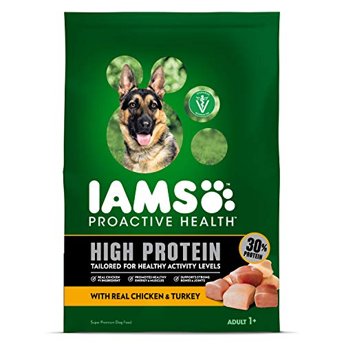 IAMS PROACTIVE HEALTH High Protein Adult Dry Dog Food with Real Chicken and Turkey, 22 lb. Bag