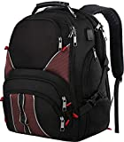 Extra Large Backpack,TSA Laptop Backpack with Luggage Sleeve,High School Backpack for Teen Boys & Girls,Large college backpack with Laptop Compartment for Men & Wowen,17Inch Travel Laptop Backpack,Red