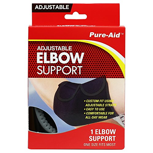 Pure-Aid Adjustable Elbow Support(1 pack)