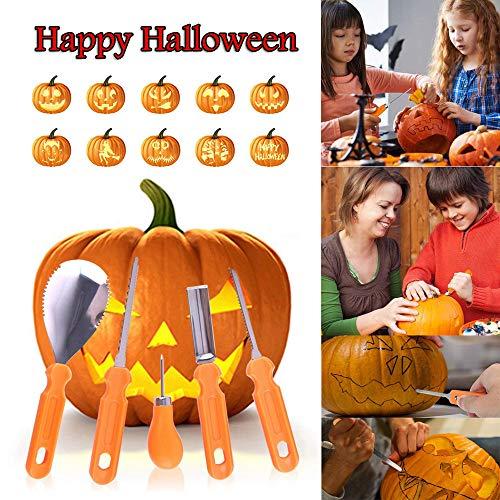 Clearance Sale!UMFun 5Pcs Halloween Pumpkin Carving Kit Designs Conventional Sculpting Tools ()
