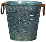 Cheap CWI Gifts 9″ Galvanized Metal Olive Bucket