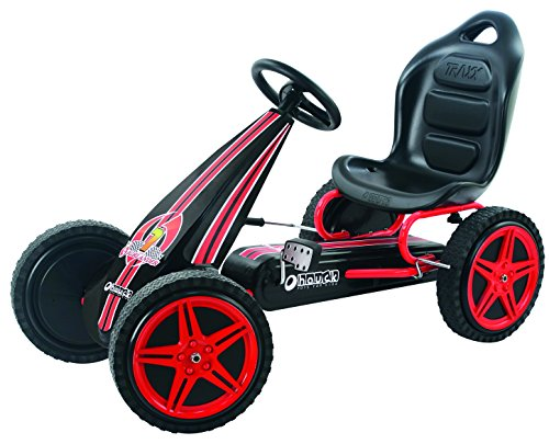 Hauck Highlander Pedal Go Kart Ride On, Red/Black (Childrens Pedal)