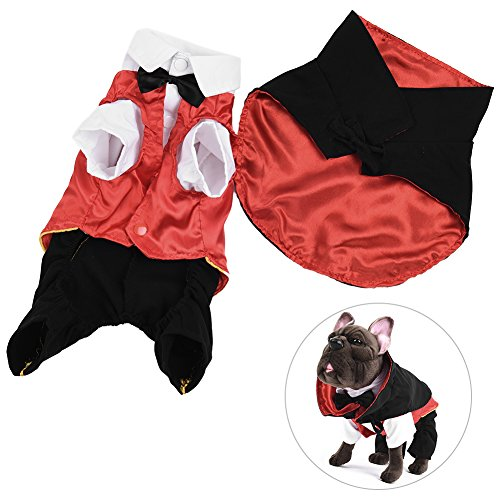 Vampire Images Costumes (Petacc Adorable Pet Halloween Costume Charming Dog Fancy Clothes Cute Dog Funny Outwear Apparel with Back Cloak and Snap Fastener (M))