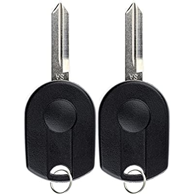 KeylessOption Keyless Entry Remote Control Fob Uncut Blank Ignition Car Key Replacement for CWTWB1U793 (Pack of 2): Automotive