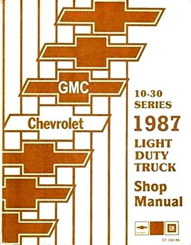 COMPLETE & UNABRIDGED 1987 CHEVROLET TRUCK & PICKUP REPAIR SHOP & SERVICE MANUAL INCLUDES: 4x2 4x4 ½ ton ¾ ton 1 ton Blazer Suburban K5 K10 K20 K30 C10 C20 C30 G10 G20 G30 P10 P20 P30