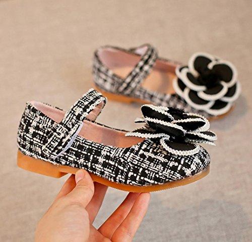 Sport Schuhe,Hunpta Kleinkind Kinder Mädchen Baby Kamelie Blume Mode Prinzessin Sandalen einzigen Schuhe Schwarz