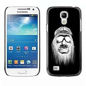 Ihec Tech Negro Cráneo del Hippie Muerte Blanca / Funda Case back Cover guard / for Samsung Galaxy S4 Mini i9190