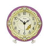 HAOFAY Creative Simple Desk Clock, European Fashion Silent Quartz Clock Desk and Shelf Clock