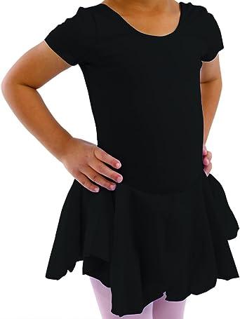 Basic Moves Big Girls Flutter Sleeve Leotard with Attached Skirt