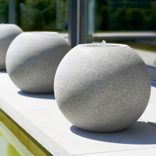 esteras® Gartenbrunnen Meco Ø 41 cm granitgrau