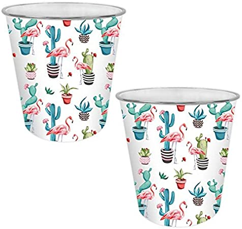 /Llama o Flamingo Flamingo X 2 YoL design colorato cestino cute Home Office plastica cestino pattumiera/